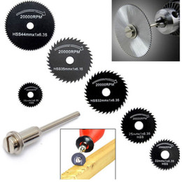 Wholesale 6PCs Metal HSS Circular Saw Blade Set Cutting Cutoff Disc for Dremel Rotary Tool