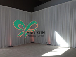 10ft*20ft White Wedding Backdrop Drape Curtain With The Backdrop Stand \ Pipe Stent