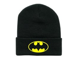 Wholesale New Winter Cap Women Batman Beanies hats and caps Unisex sports hip hop cotton knit cap gorro men