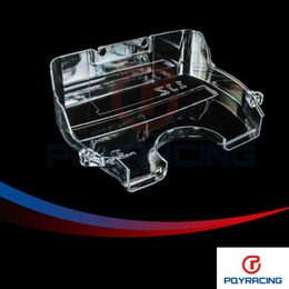 Wholesale PQY STORE NEW racing clear pulley cover timing belt cover cam gear cover for TOYOTA SUPRA JZ PQY6336