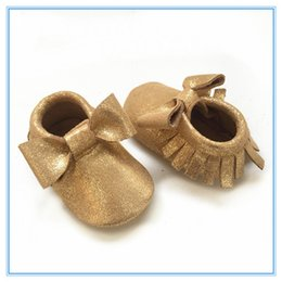 glitter gold baby shoes hot selling soft sole baby moccasin