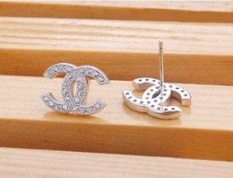 Wholesale 2016 Newest Fashion silver stud earrings female models small upscale Swiss Diamond Sterling Silver earrings earring Wholesales
