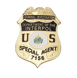 Wholesale US criminal investigation department of the interpol special agent metal badge