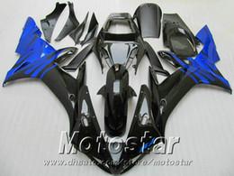 Injection mold ABS full fairing kit for YAMAHA R1 2002 2003 blue black fairings set 02 03 yzf r1 LQ6