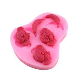 Wholesale Monkey Banana Shape D Silicone Mold For Cake Decorating Also Use Jelly Candy Handmade Soap Tools CT546
