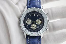 Wholesale man blue BELT date Promotion cheap Selli fashion new Mechanics brand men watch stainless steel uxury wristwatch men s Watches