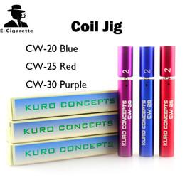 Kuro Koiler Coil Jig Wire Coiling Tool Atomizer Coil Tool Wrapping Coiler for e Cigarette Kayfun Taifun Atty Orchid Haze Aris RDA RBA