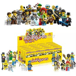 Wholesale 16pcs Bozhi minifigures blocks assembled toys Christmas gifts for children super hero Riot police with L ego