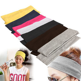hot Candy Color Vogue Women Yoga Sport Headband Simple Hairband Elastic 20*7cm Elastic Headband Sports Yoga Accessory headbands