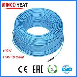 Wholesale-2015 Best Quality Blue Balcony Snow Melting Flooring Radiant Under FLoor Heating 220v 600w Bthroom PVC Heating Cable