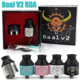 Atomizadores al por mayor en Línea-Al por mayor-Baal V2 RDA atomizador vaporizador tanque con gran calibre Drip Tip Baal V2 Reconstruible Baal atomizador Clon 5 colores encaja Mods