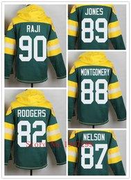 Wholesale Factory Outlet Men s B J Raji Jordy Nelson Richard Rodgers James Jones Jersey Pullover Hoodies Sweatshirt