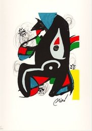 Wholesale Wall Art Modern LA MELODIE ACIDE VI Joan Miro Painting Canvas Reproduction High quality Hand painted