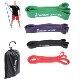 Wholesale Set of Natural latex quot Strength Resistance Bands Loop Fitness Crossfit Power Lifting Pull Up Strengthen Muscles