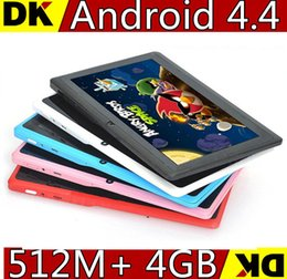 Wholesale New inch Q88 Dual Camera Dual Core A23 Android Tablet PC M G Capacitive Screen Colors Best Gift for Christmas