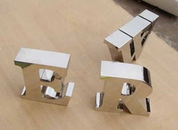 Wholesale Mirror polished stainless steel lettering D sign business signage display