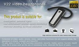 2017 bluetooth auriculares cámara espía Cámara llena del receptor de cabeza del auricular de Bluetooth del espía 1080P de la cámara 5.0 MP H.264 mini registrador video 20PCS / LOT de la voz de la cámara del espía del auricular de Bluetooth descuento bluetooth auriculares cámara espía