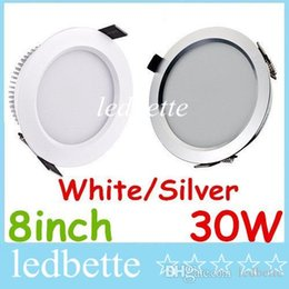 Ultra Bright 30W 2500 Lumens Led Downlights 8 Inch High Power Led Recessed Fixture Ceiling Lighting Warm Cool White AC 85-265V