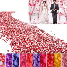 100 Pcs lot Artificial Silk Rose Petals Wedding Decoration Petals for Valentine's Day and Party Simulation Flower Petal