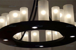 Kevin Reilly hemel math ring Modern Pendant lamp LED candle chandelier Kevin Reilly Lighting Innovative candle and metal light fixture