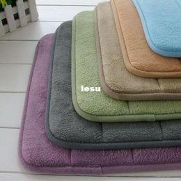Wholesale Fashion Hot High Quality Slow rebound memory foam mats waste absorbing slip resistant bath mat coral fleece mat doormat carpet
