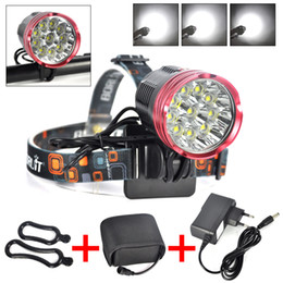 Wholesale Bicycle Light Headlight in1 Lumen x XM L2 LED Bike Light Lamp Headlamp V battery pack EU AU US UK Charger