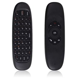Wholesale-Gyroscope Fly Air Mouse C120 Gaming keyboard Android Remote Control 2.4Ghz Wireless Game Keyboard For Smart Tv Box Mini PC