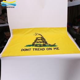 Wholesale DHL Dont Tread on Me Gadsden Flag banner X FT CM Yellow Color Flags