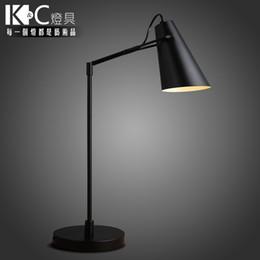 Wholesale KC lamps minimalist industrial style study desk computer desk study eye creative wrought iron table lamps adjustable long arm