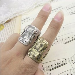 Wholesale Alloy Rings Jewelry Fashion Brief Crocodile Head Three dimensional Cluster Rings Vintage Punk Alloy Finger Rings Jewelry Drop Shipping SR324