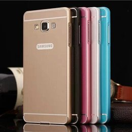 Wholesale A7 New in1 Case For Samsung Galaxy A7 A7000 Luxury Slim Acrylic Back Cover Aluminum Metal Frame Set