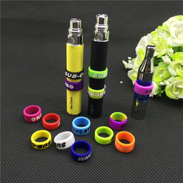 Wholesale ecig silicone bands mm vape ring for ego series batteries decorative and protection resistance vape bands for ego vision spinner II evod