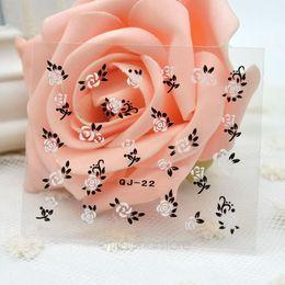 Hot vente !! 50 x Feuille 3D Design Tip Nail Art Decal Sticker Manucure Mix Couleur Fleur Nail Art Accessoires de manucure FMPJ181 à partir de feuille de métal arts fournisseurs
