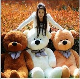 Wholesale 2016 New Arrival Teddy Bear Hot Sale Cotton Light Brown Giant cm Cute Plush Teddy Bear Huge Soft TOY