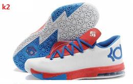 Kd chaussures de vente mens en Ligne-Vente en gros KD Chaussures de basket KD VI Que les chaussures KD athlétisme en ligne Cheap Sale KD Sport Chaussures Chaussures Hommes Outdoors Mens Mix Orde Taille 40-46