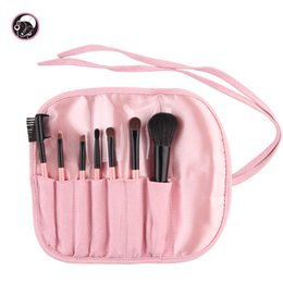 Wholesale-7 pcs Makeup Brush Set Travel Cosmetic Brush Kit Lovely Makeup Brushes With Brush Bag