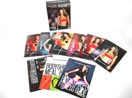 Wholesale Jillian Michaels DVDs Rotational Calendar Meal Plan Fitness Guide DHL