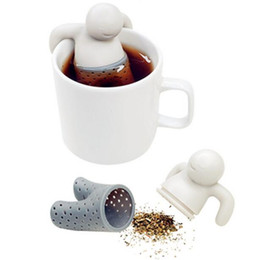 Wholesale DHL Free Silicone Mr Tea Infuser Loose Tea Leaf Strainer Herbal Spice Filter Diffuser With Retail Package