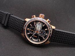 Top Brand Miglia Chronometer Mens Quartz Sports Watches Rose Gold Grans Turismos GTS XLS Rubber Luxury Men Stainless Wristwatch Fee Shipping