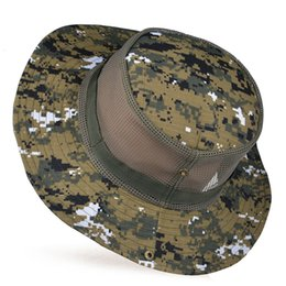 Wholesale Summer outdoor male ben nepalese cap large travel Camouflage hat sun hat strawhat breathable sun shading mesh