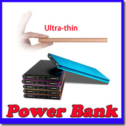 Wholesale New Ultra thin mAH Power Bank Battery Safety USB Charger Emergency for Mobile iphone6 Samsung S6 Android cellphones chargers