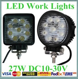 Wholesale 30pcs V V quot inch W Spotlight Floodlight car Tractor Truck SUV boat X4 WD Jeep Offroad driving LED work light bulbs bar