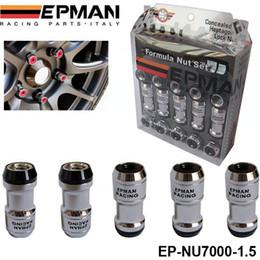 AUTHENTIC EPMAN FORMULA WHEELS LOCK LUG NUTS M12X1.5 20PCS ACORN RIM CLOSE END JDM H FOR VOLK RAYS STEY EP-NU7000-1.5