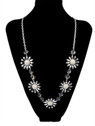 New Girl's Fashion Women Sweater Chain Flower Long Necklaces Gold Silver Plated Resin Necklace & Pendants