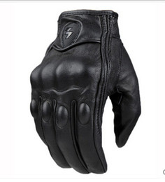 New touch-screen motorcycle leather gloves Male off-road racing protective gloves