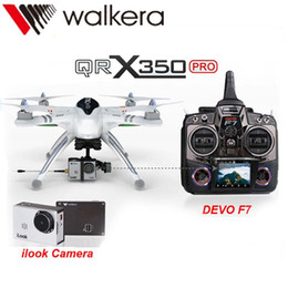 Promotion gps quadcopter fpv Gros-2015 WALKERA QR X350 Pro 6CH Brushless UFO GPS Drone avec caméra DEVO F7 émetteur RC Helicopter FPV Drone quadcopter Dron