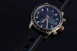 High Quality Classic Black Genuine Leather Watch Strap Miglia Mens Quartz Watch Grans Turismos GTS XLS Luxury Rose Gold Wristwatches For Men