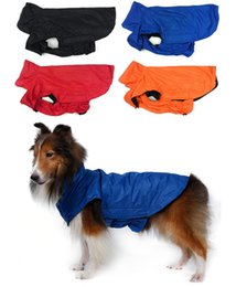 Wholesale New Arrivals Puppy Dog Apparel Waterproof Raincoat Jacket Clothes Nylon Anti static Plush Cloth Size S XL MA4