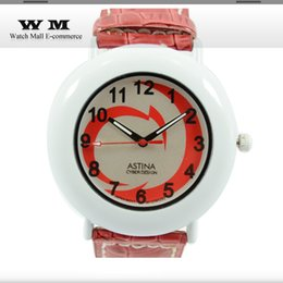 Wholesale Fashion New Hot red watches Brand picture print round dial wrist watch Sport girl Watch Gift Army Sport Style Bracelet WA0526X