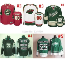 Wholesale Factory Outlet Own your design NO Name minnesota wild Jerseys or blank home away Sewn On Embroidery logos Only part of your Retail